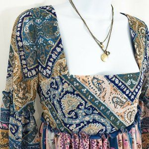 J Crew Layered Bohemian Medallion Necklace
